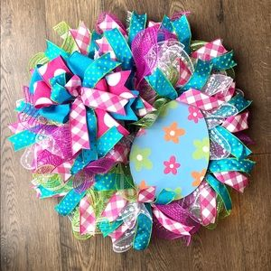 Easter egg polka dot wreath